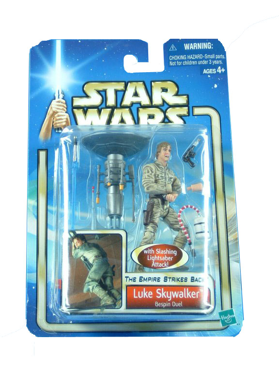 2002 Star Wars Saga LUKE SKYWALKER BESPIN DUEL Sealed MOC